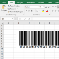 Excel<br>Barcode image